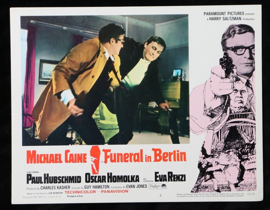 Funeral in Berlin (1966) - American lobby card, starring Michael Caine, Oskar Homolka, and Paul
