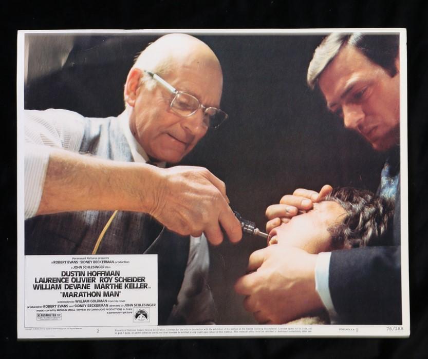 Marathon Man (1976) - American lobby card, starring Dustin Hoffman, Laurence Olivier, and Roy