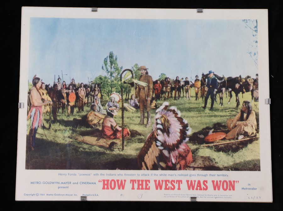 How The West Was Won (1962) - American lobby card, starring James Stewart, John Wayne, and Gregory