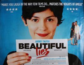 Beautiful Lies (2010) - British Quad film poster, starring Audrey Tautou and Nathalie Baye,