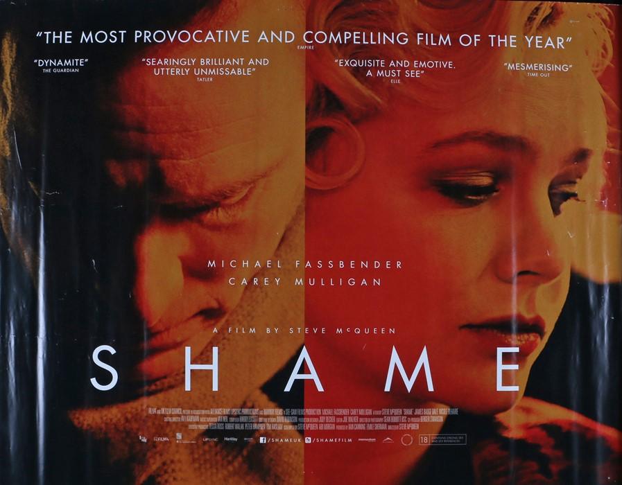 Shame (2011) - British Quad film poster, directed by Steve McQueen, starring Michael Fassbender