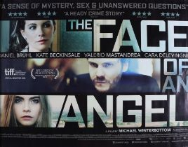 The Face of an Angel (2014) - British Quad film poster, starring Ava Acres, Cara Delevingne, Kate