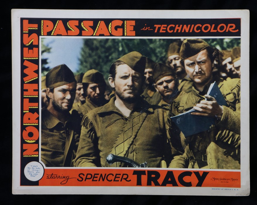 Northwest Passage (1940) - American lobby card, starring Spencer Tracy, Robert Young, and Walter