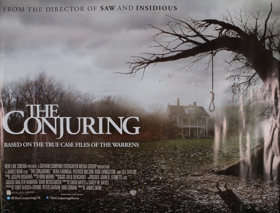 The Conjuring (2013) - British Quad film poster, starring Patrick Wilson and Vera Farmiga, rolled,