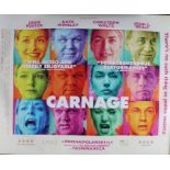 Carnage (2011) - British Quad film poster, starring Jodie Foster, Kate Winslet and Christoph