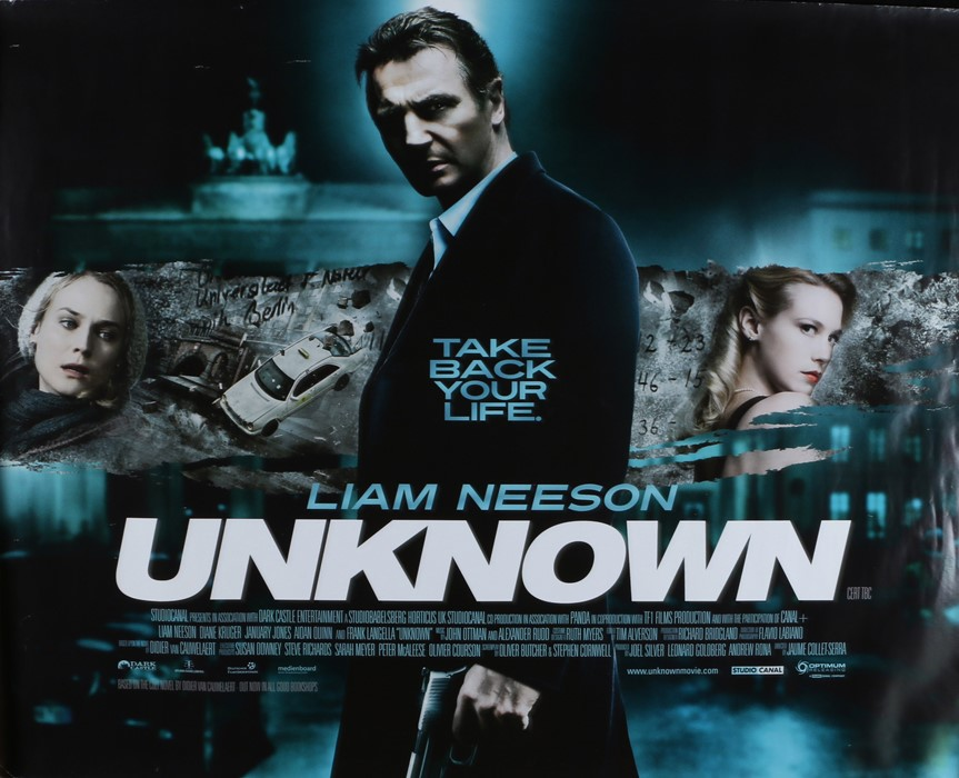 Unknown (2011) Bbritish Quad film poster, starring Liam Neeson, Diane Kruger and January Jones,