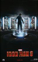 Iron Man 3 (2013) - British one-sheet film poster, starring Robert Downey Jr., Guy Pearce, and