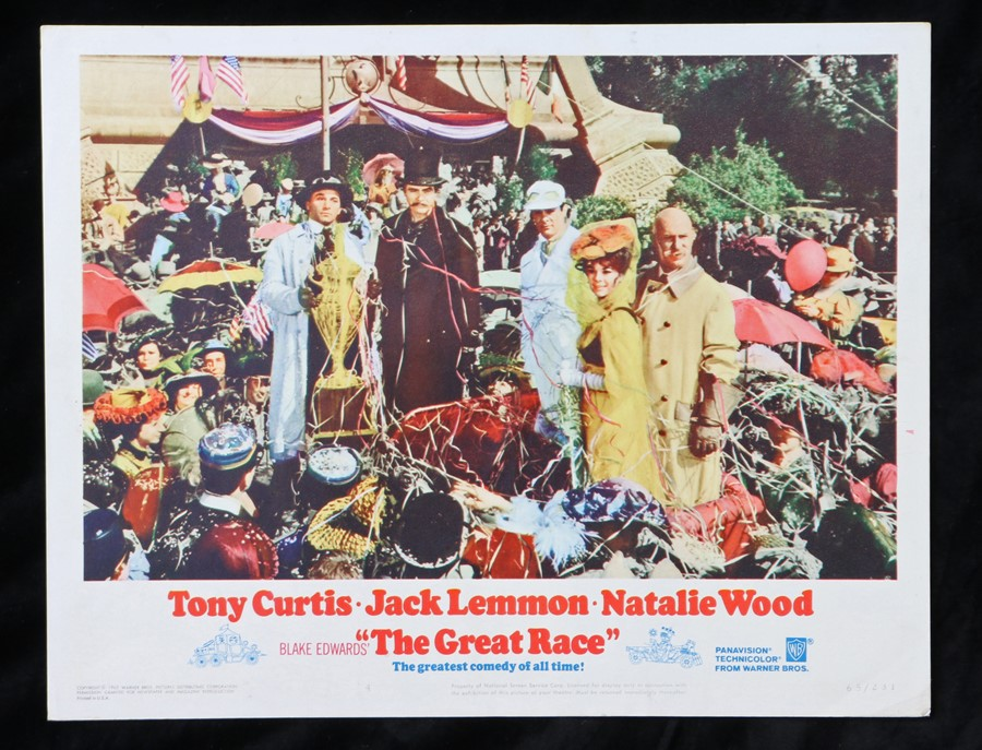 The Great Race (1965) - American lobby card, starring Tony Curtis, Natalie Wood, and Jack Lemmon,