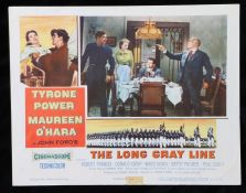 The Long Gray Line (1955) - American lobby card, starring Tyrone Power, Maureen O'Hara, and Robert