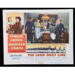 The Long Gray Line (1955) - American lobby card, starring Tyrone Power, Maureen O'Hara, and Robert
