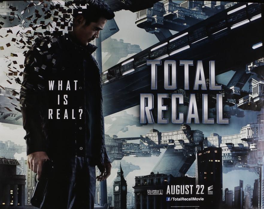 Total Recall (2012) - British Quad film poster, starring Colin Farrell, Bokeem Woodbine and Bryan