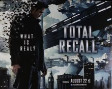 Total Recall (2012) - British Quad film poster, starring Colin Farrell, Bokeem Woodbine and Bryan