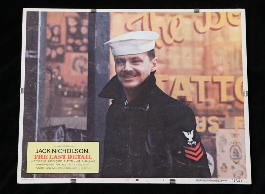The Last Detail (1973) - American lobby card, starring Jack Nicholson, Randy Quaid, and Otis