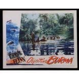 Objective, Burma! (1945) - American lobby card, starring Errol Flynn, James Brown, and William