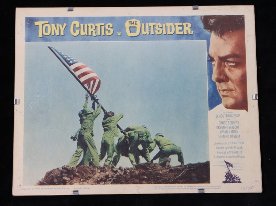The Outsider (1961) - American lobby card, starring Tony Curtis, James Franciscus, and Gregory