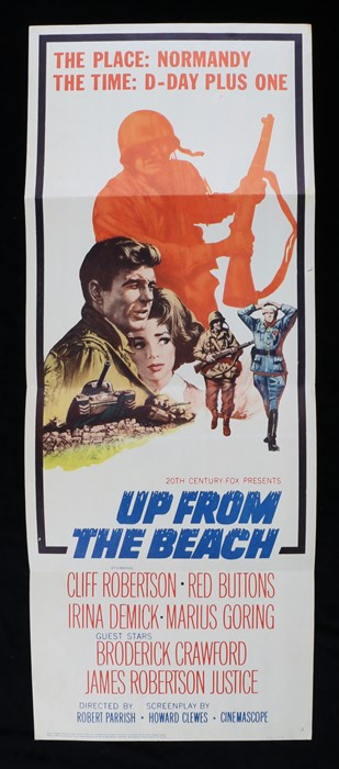 Up from the Beach (1965) film poster, starring Cliff Robertson, Red Buttons, and Irina Demick, 91.