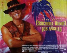 Crocodile Dundee in Los Angeles (2001) - British Quad film poster, starring Paul Hogan, rolled,