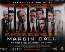 Margin Call (2011) - British Quad film poster, starring Kevin Spacey, Paul Bettany and Jeremy Irons,