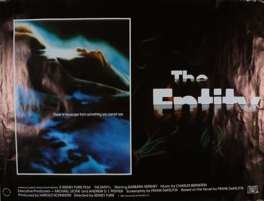 "The Entity (1982) - British Quad film poster, starring Barbara Hershey, rolled, 30"" x 40"""