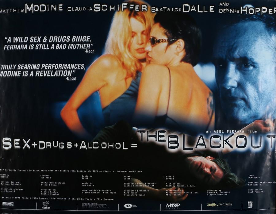 The Blackout (1997) - British Quad film poster, starring Matthew Modine, Claudia Schiffer and