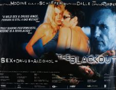 The Blackout (1997) - British Quad film poster, starring Matthew Modine, Claudia Schiffer and