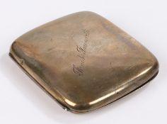 "George V silver cigarette case, Birmingham 1917, maker Henry Matthews, the exterior engraved """