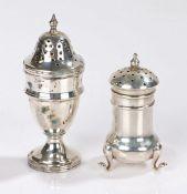 Edward VII silver pepperette, Chester 1909, maker James Deakin & Sons (John & William F Deakin),
