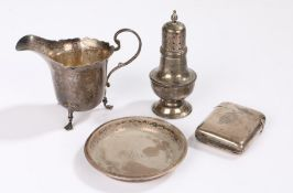 Silver, various dates and makers, to include vesta case converted to a lighter, small milk jug,