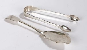 George IV silver fish knife, Dublin 1827, maker James Scott or Isaac Solomon, the fiddle pattern
