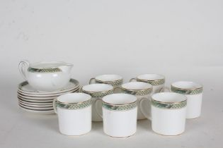 Wedgwood Icarus pattern coffee service, consisting of eight coffee cups, eight saucers, milk jug (