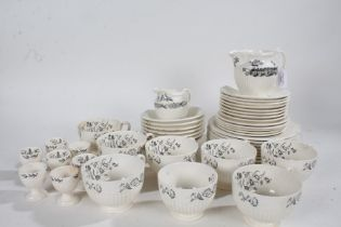 Wedgwood Rural England part tea set, consisting of plates, depicting Great Barr Hall, saucers,