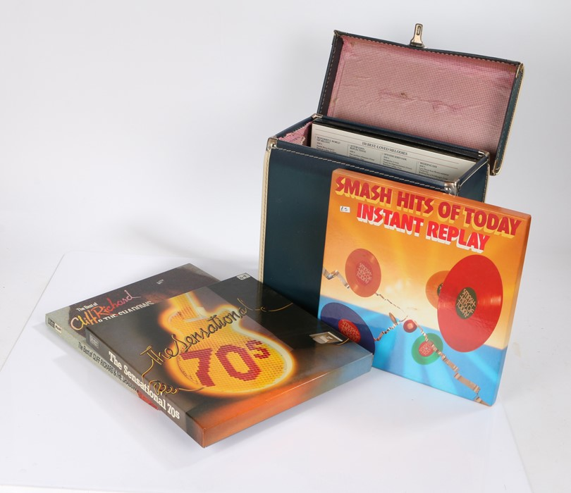 """4 x Pop / Rock 12"""" Vinyl Box sets.To Include, Cliff Richard - The Best Of Cliff Richard and The"""