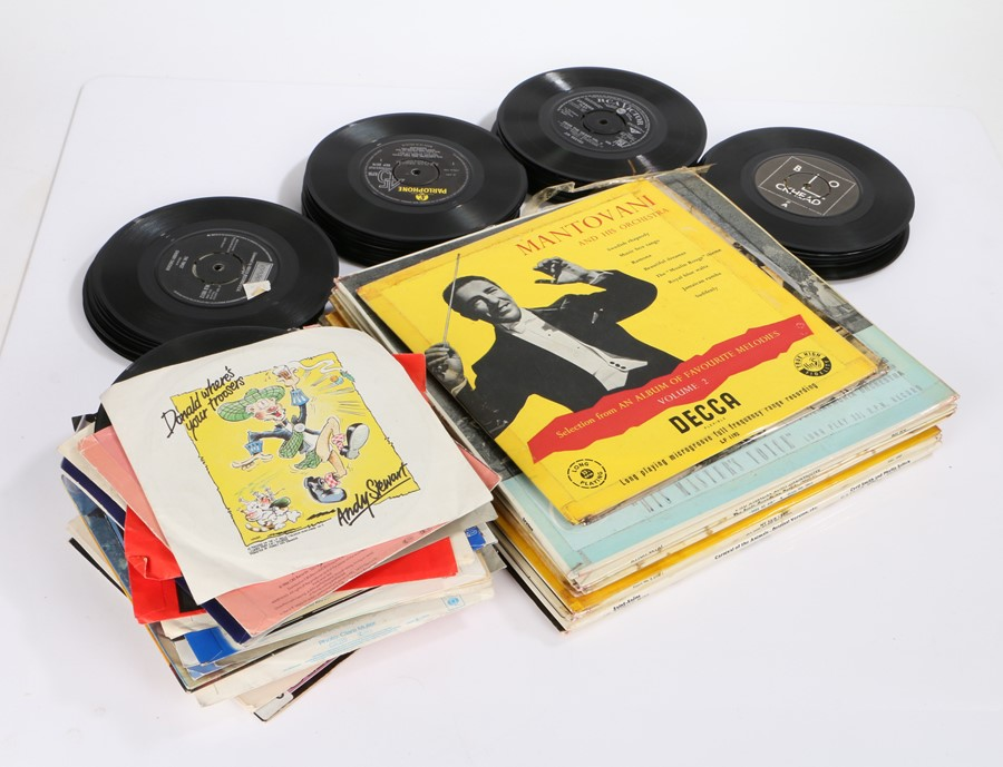 """Classical / Soundtrack LPs together with 80's / 90's Pop 7"""" singles."""