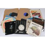 """Mixed 78s and 7"""" singles. To include John Cale - Ooh La La. The Promise - Away Away, white label"""