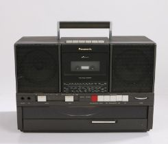 Panasonic SG J500 L Portable turntable boombox, circa 1986, with a tape deck, record player and