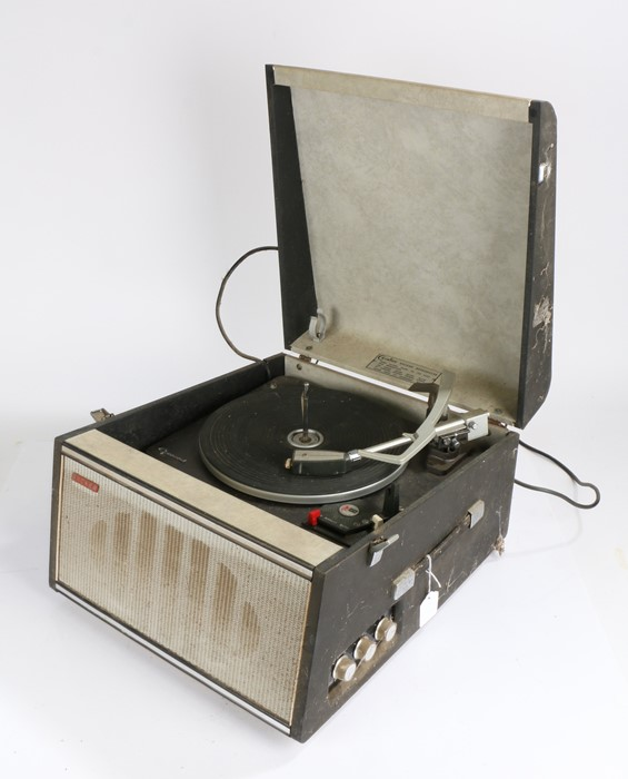 Hacker Cavalier Record Player with Garrard AT6 turntable.