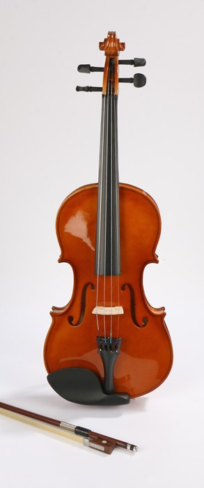 Student violin and bow, housed in a fitted case