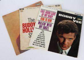 3 x Rock & Roll LPs. Buddy Holly (2) - Buddy Holl (LVA.9085), first pressing. The Buddy Holly
