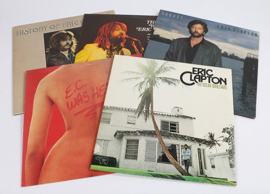 5 x Eric Clapton LPs. 461 Ocean Boulevard (RSO De Luxe 2479 118). E.C. Was Here. August. The Blues