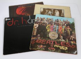 4 x Rock LPs. The Beatles - Sgt. Peppers Lonely Hearts Club Band ( PMC 7027 ), with cut-out