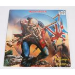 """Iron Maiden - The Trooper 12"""" Picture Disc Single, Die cut sleeve (EMI 12EM662)."""