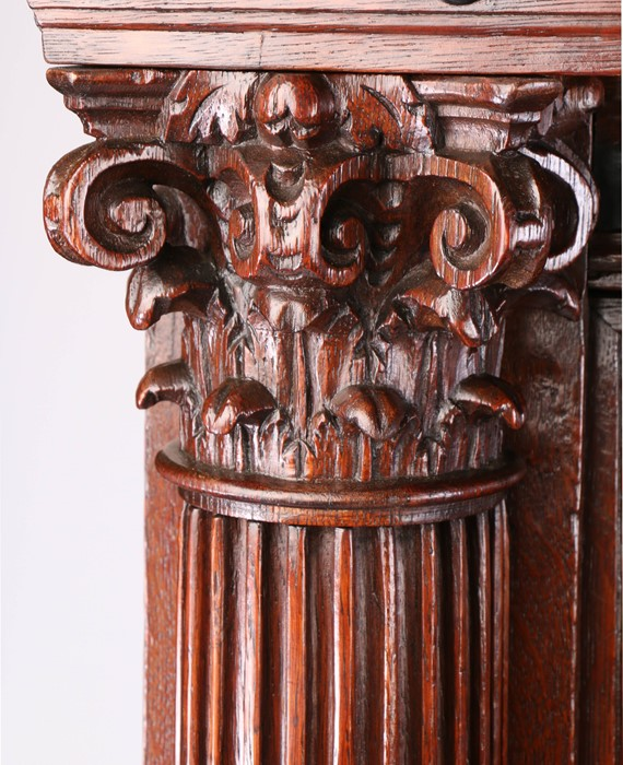Fine 17th Century Dutch oak Keeftkast cupboard, an unusually small size, circa 1640, the deep and - Image 3 of 6