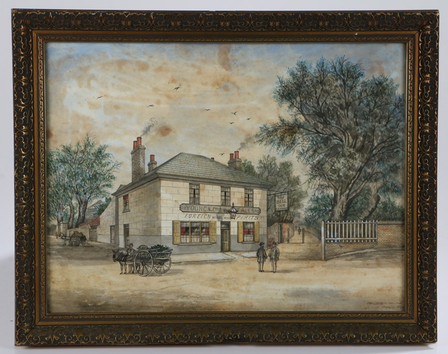 A set of three late 19th Century primitive watercolours, by Sydney Barton, the first with the wine - Image 4 of 4