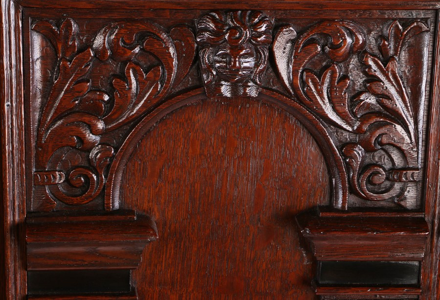 Fine 17th Century Dutch oak Keeftkast cupboard, an unusually small size, circa 1640, the deep and - Image 2 of 6