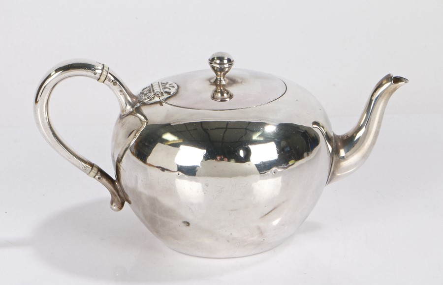 Victorian silver bachelors teapot, London 1873, maker Elkington & Co (Frederick Elkington), of