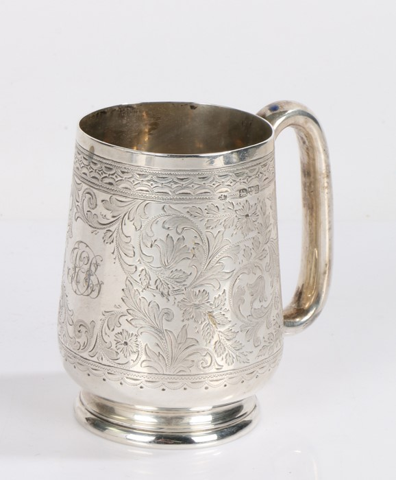 Edward VII silver christening mug, Chester 1902, maker Colen Hewer Cheshire, the tapering body