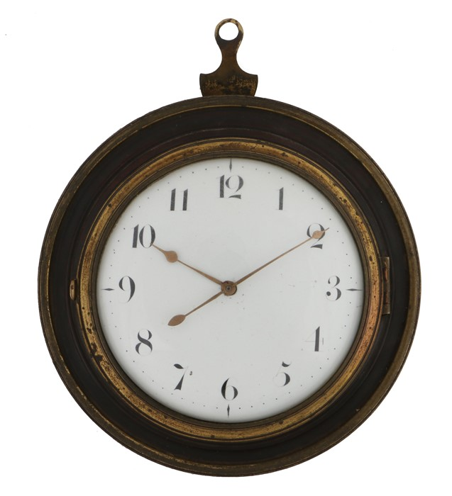 Early 19th Century wall clock by James Hawke of Bury St Edmunds, the white enamel dial with Arabic