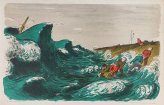 After Edward Ardizzone, The Wreck, lithograph distributed by School Prints Ltd 1951, 76cm x 49cm
