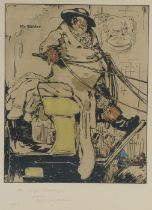 """Sir William Nicholson (1872-1949) 'Mr Weller' lithograph, signed and inscribed """"For E J Boulenger"""