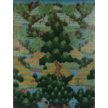 Asian School (20th Century) Extensive forest and field landscape, 66cm x 88cm